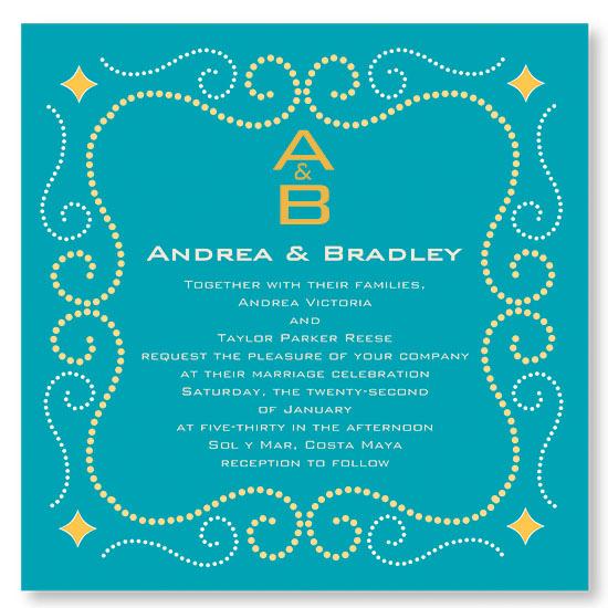 wedding invitations - Ocean Breeze by Lisa Wcislo