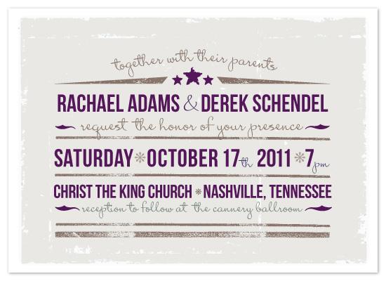 wedding invitations - Star of the Show Wedding Invitation by Rachael Schendel