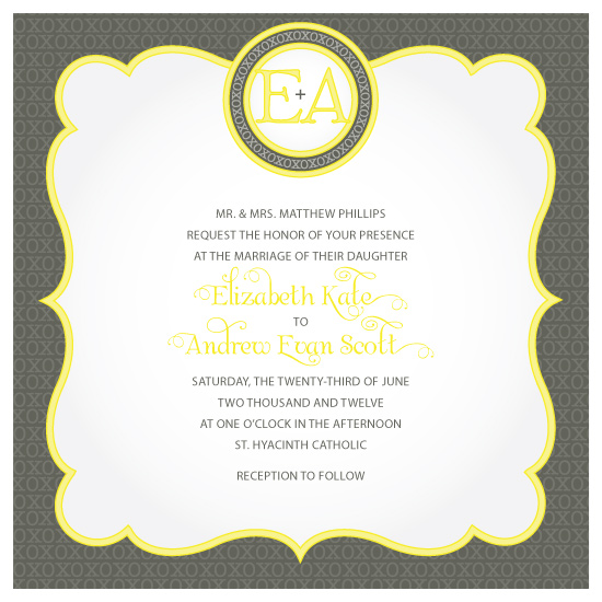 wedding invitations - Elegant Hugs And Kisses by Kate Eileen Emmert