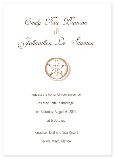 wedding invitations - Sand Dollar Elegance by melmade