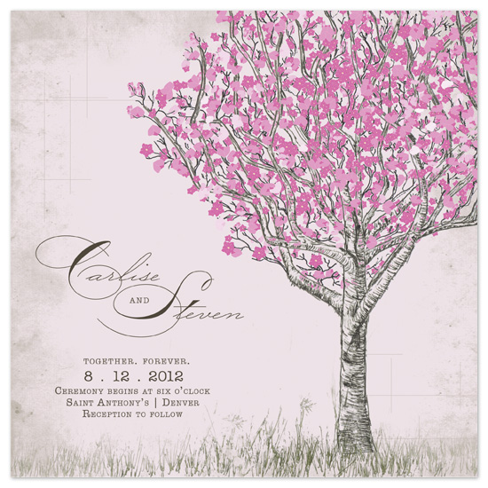 wedding invitations - cherry blossom bliss at minted, Wedding invitations