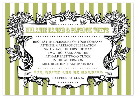 wedding invitations - vintage floral frame by Sweet Sonoma Company