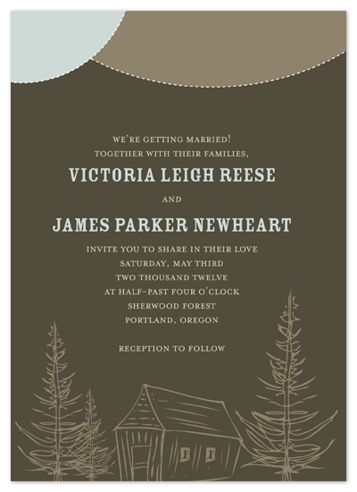wedding invitations - Pine Forest by GZ