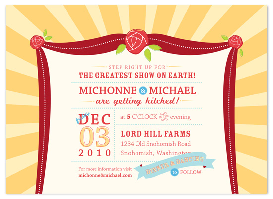 wedding invitations - The Greatest Show by Tanya Williams