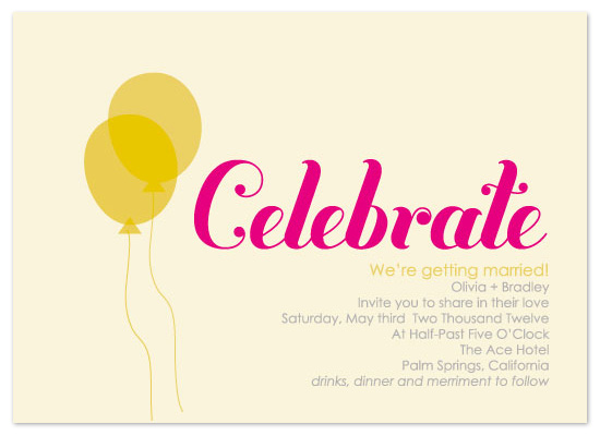wedding invitations - Celebrate. by Jen Gebrosky