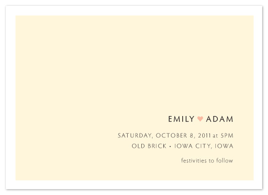 wedding invitations - typography love by Pilot Papers