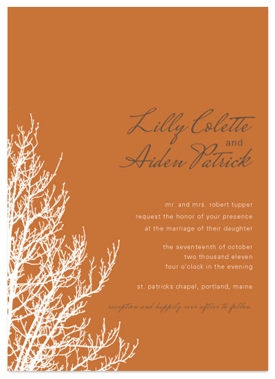 wedding invitations - tree by R studio