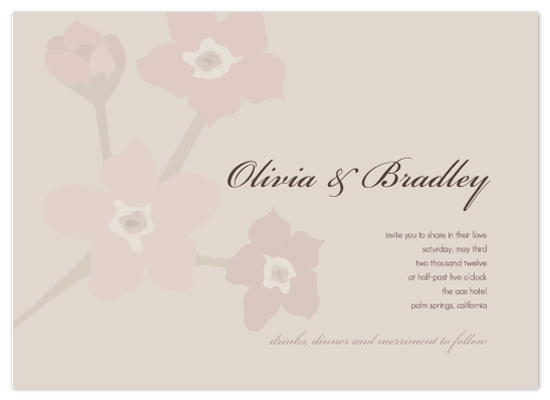 wedding invitations - Forget Me Nots by Amanda Michaud