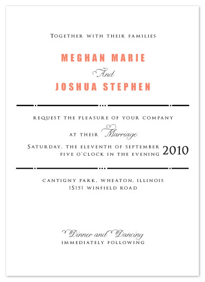 wedding invitations - Modern Handbill by Cora Verbeeck of Cora Belle Design Studio