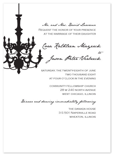 wedding invitations - Ballroom by Cora Verbeeck of Cora Belle Design Studio