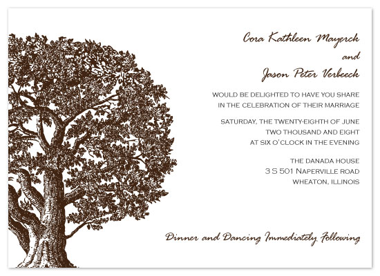 wedding invitations - Oak by Cora Verbeeck of Cora Belle Design Studio