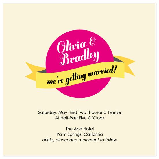 wedding invitations - Bold  Banner by Jen Gebrosky