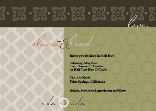 wedding invitations - India Inspired by Kerri Rodenbaugh