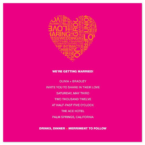 wedding invitations - i heart u by Linda Loiewski