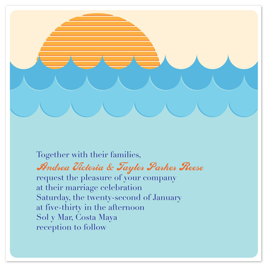 wedding invitations - Setting Sun by Michael Smith