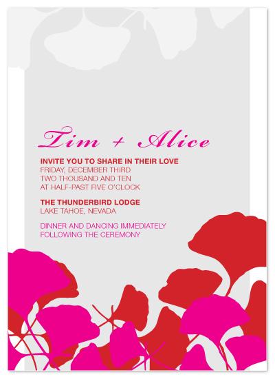 wedding invitations - Newton Street Leaf by AVA Design