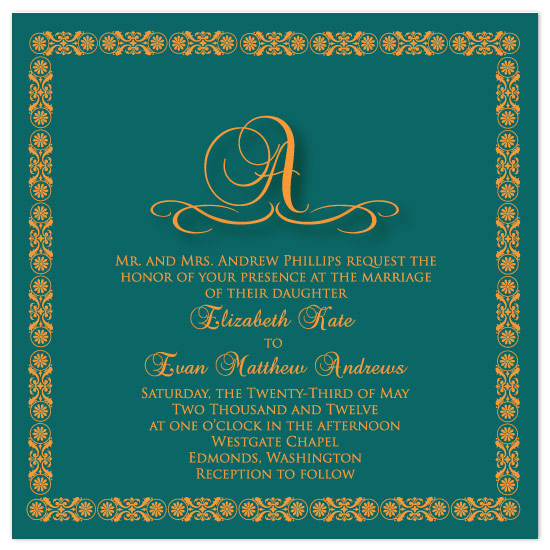 wedding invitations - Sari Inspired by Claar Design