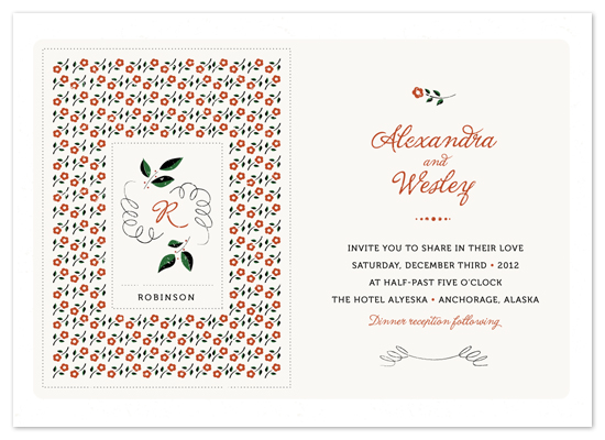 wedding invitations - Scandinavian Folk by Emily Crawford