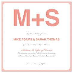 Simple Letters Wedding