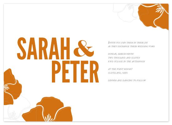 wedding invitations - Orange Blossom Wedding by MelStudio