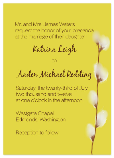 wedding invitations - Watercolor Willows by Claar Design