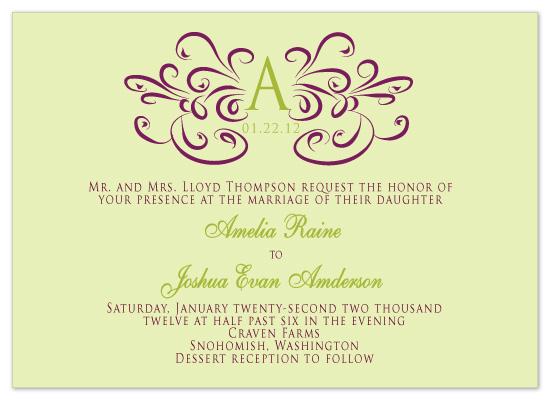 wedding invitations - Monogram w/ Date by Claar Design