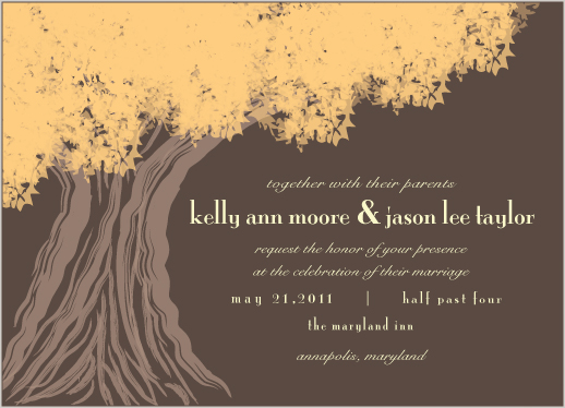 wedding invitations - Tree of Love by Preppy Paperie