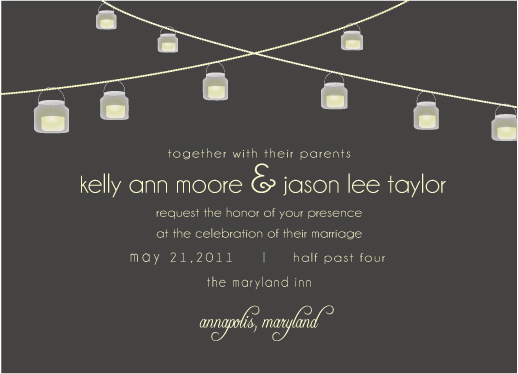 wedding invitations - String of Love by Preppy Paperie