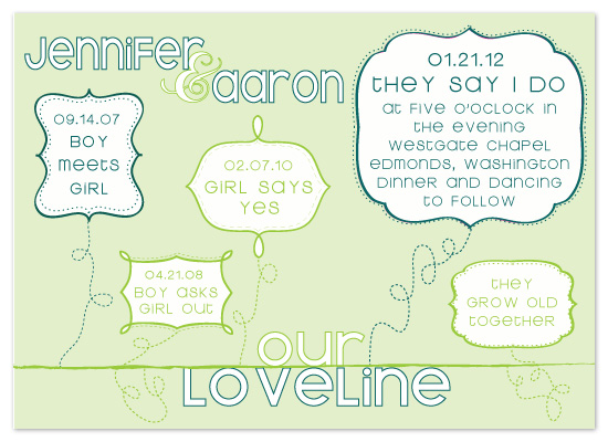 wedding invitations - Loveline by Claar Design