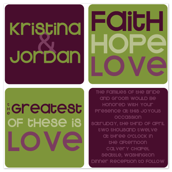 wedding invitations - Faith, hope, love by Claar Design
