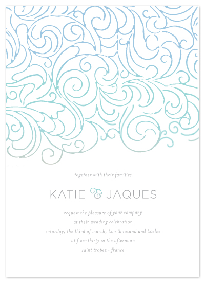 wedding invitations - Ocean Flourish by cambria