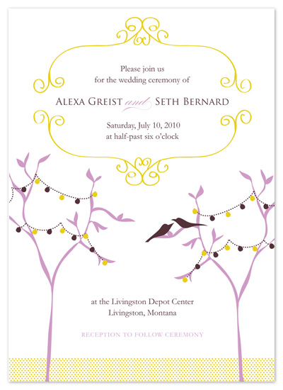 wedding invitations - lavender_lovebirds by Ashley Moura