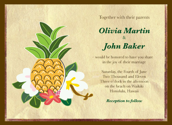 Wedding Invitations Hawaii Invitation By Leah Ackles