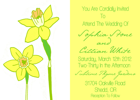 wedding invitations - Narcissus by Snapdragon Design Co.