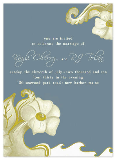 wedding invitations - Eden's Garden by My Blue Sparrow