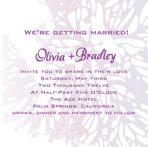wedding invitations - Purple Palm by Jenny Diederich