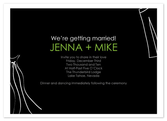 wedding invitations - Wedding Apparel by jot and scribble