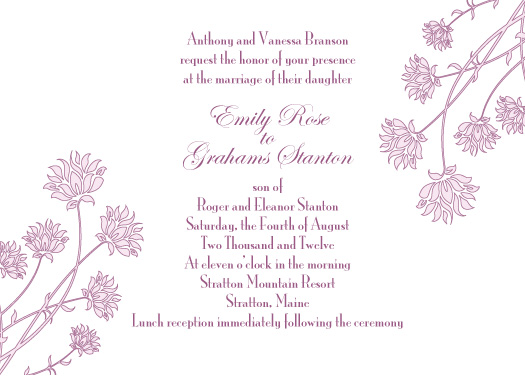 wedding invitations - Hydrangea Invite by Jenny Diederich