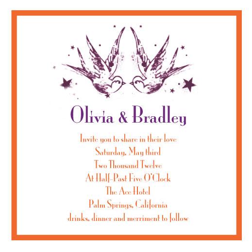 wedding invitations - Love Birds by Jenny Diederich