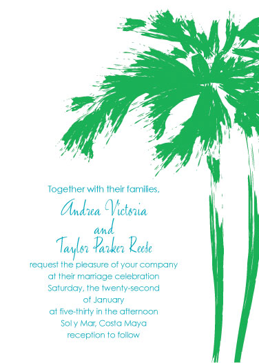 wedding invitations - Palms by Jenny Diederich