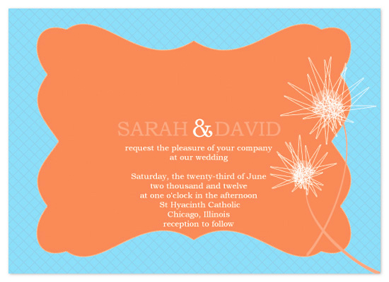 wedding invitations - Orange Blossom by jot and scribble