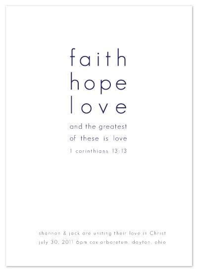 wedding invitations - Faith Hope Love by Amy Walker