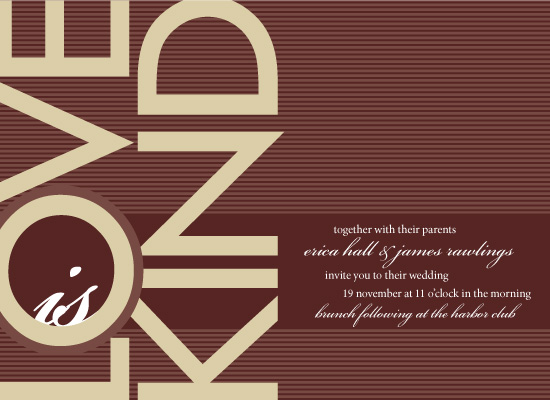 wedding invitations - Modern Corinthians by Laura New