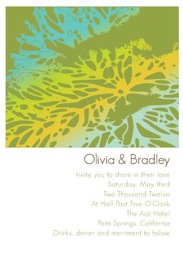 wedding invitations - Palms by Jenny Diederich