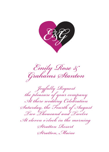 wedding invitations - Joined Hearts by Jenny Diederich