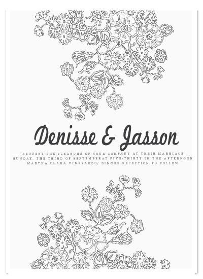 wedding invitations - ENREDADERA by Mónica Pérez Álvarez