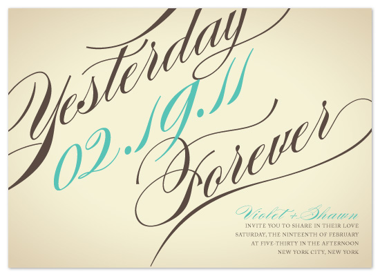 wedding invitations - Yesterday, Today, Forever... by Hoang Huynh