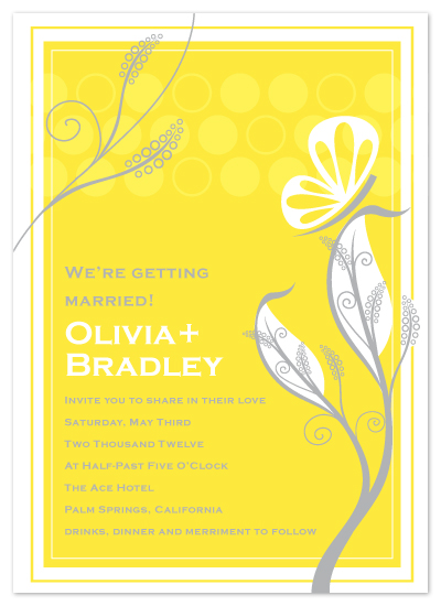wedding invitations - Butterflys and Dots by April Muschara