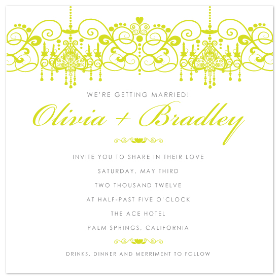 wedding invitations - Glamour Chandelier by April Muschara