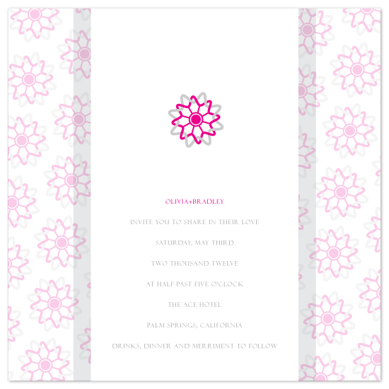 wedding invitations - Intwined Flower by April Muschara